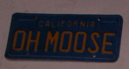 Funny License Plate - Oh Moose